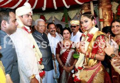Sadananda gowda son wedding invitations