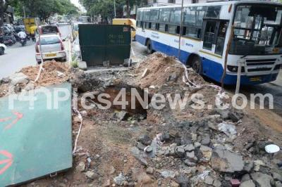 India Karnataka bangalore News Photo - Drainage work 7th